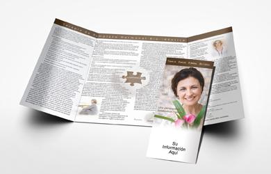 storey marketing spanish bio identical hrt 8 panel brochure
